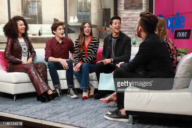 Sofia Wylie, Joshua Bassett, Olivia Rodrigo and Matt Cornett visit People Now on November 5, 2019 in New York, United States.