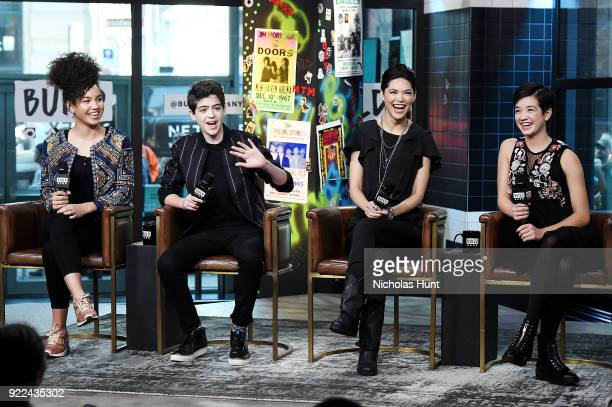 Sofia Wylie Joshua Rush Lilan Bowden and Peyton Lee at Build attend Build Series to discuss 'Andi Mack' Build Studio on February 21 2018 in New York...