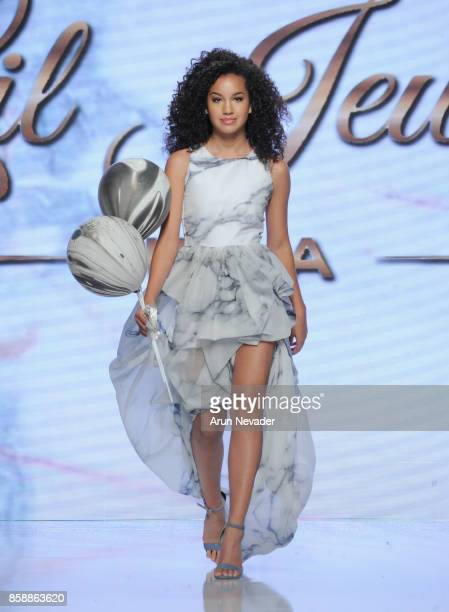 Sofia Wylie walks the runway wearing Lil Jewels Boutique at Los Angeles Fashion Week SS18 Art Hearts Fashion LAFW on October 7 2017 in Los Angeles...