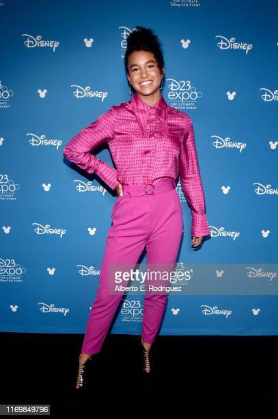 Sofia Wylieof 'High School Musical: The Musical: The Series' took part today in the Disney+ Showcase at Disney's D23 EXPO 2019 in Anaheim, Calif....