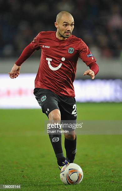 Sofian Chahed of Hannover in action during the UEFA Europa League match between Hannover 96 and FC Vorskla Poltava at AWD Arena on December 15, 2011...