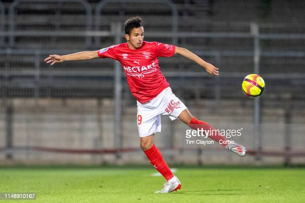 May 11: Sofiane Alakouch of Nimes in action during the Nimes V Monaco, French Ligue 1, regular season match at Stade des Costières on May 11th 2019,...