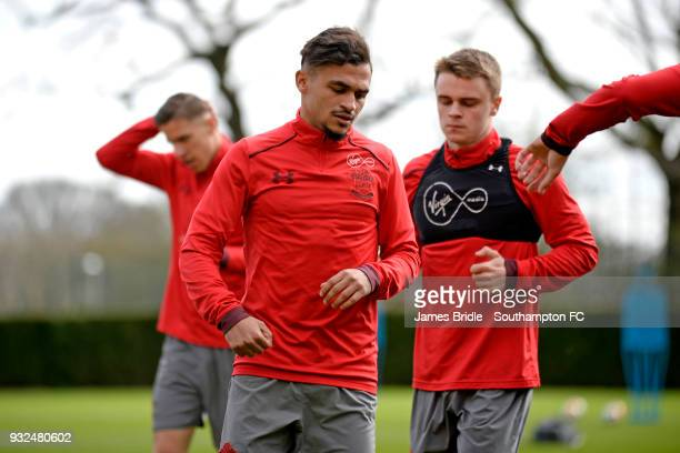 Sofiane Boufal during a Southampton FC first team training at Staplewood Complex on March 15 2018 in Southampton England