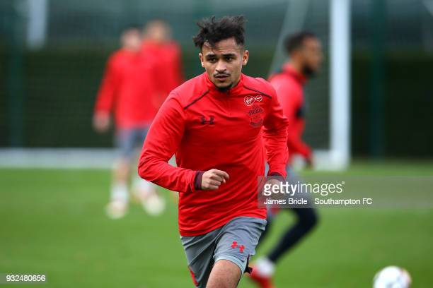 Sofiane Boufal during a Southampton FC first team training session at Staplewood Complex on March 15 2018 in Southampton England