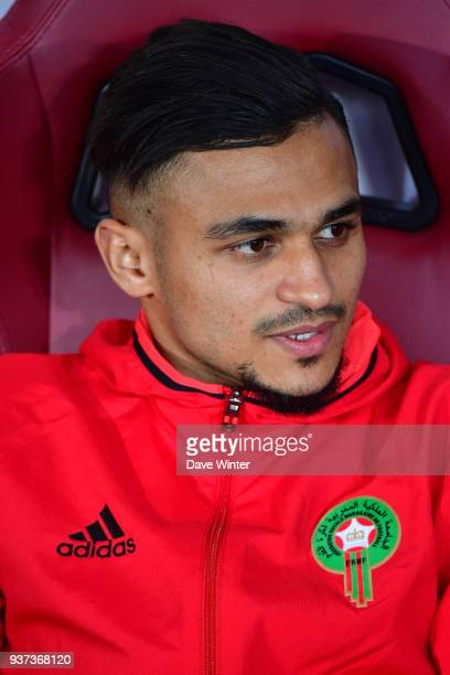 Sofiane Boufal of Morocco during the international friendly match between Morocco and Serbia on March 23 2018 in Turin Italy