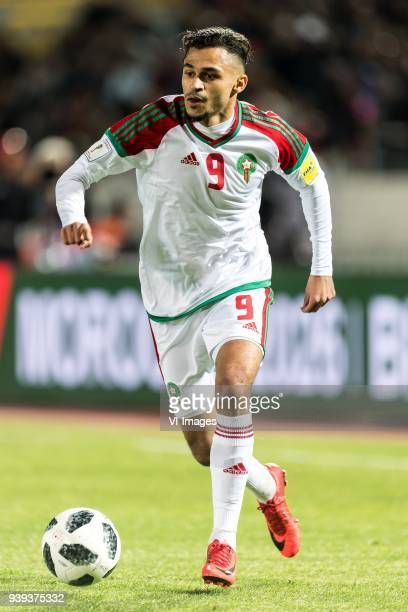Sofiane Boufal of Morocco during the international friendly match between Morocco and Uzbekistan at the Stade Mohammed V on March 27 2018 in...