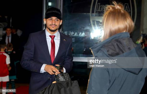 Sofiane Boufal of Southampton ahead of the Premier League match between Arsenal and Southampton at Emirates Stadium on April 8 2018 in London England