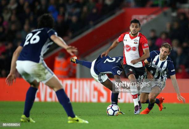 Sofiane Boufal of Southampton breaks through on his way to score his sides first goal during the Premier League match between Southampton and West...