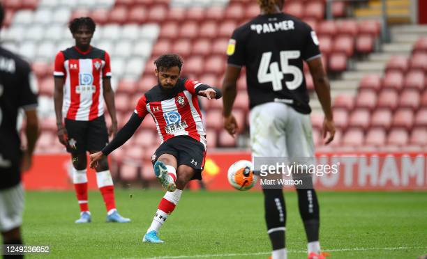 Sofiane Boufal of Southampton during a friendly match between Southampton FC and Bristol City ahead of the Premier League restart at St Mary's...