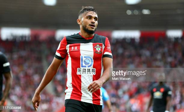 Sofiane Boufal of Southampton during the Premier League match between Southampton FC and Manchester United at St Mary's Stadium on August 31 2019 in...
