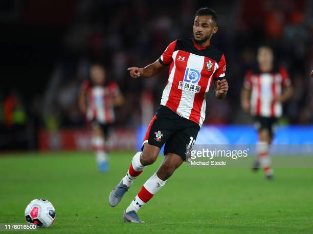 Sofiane Boufal of Southampton during the Premier League match between Southampton FC and AFC Bournemouth at St Mary's Stadium on September 20 2019 in...