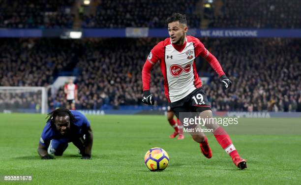 Sofiane Boufal of Southampton during the Premier League match between Chelsea and Southampton at Stamford Bridge on December 16 2017 in London England