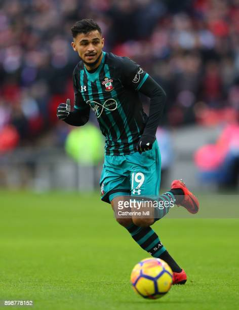 Sofiane Boufal of Southampton during the Premier League match between Tottenham Hotspur and Southampton at Wembley Stadium on December 26 2017 in...