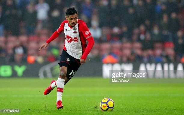 Sofiane Boufal of Southampton during the Premier League match between Southampton and Stoke City at St Mary's Stadium on March 3 2018 in Southampton...