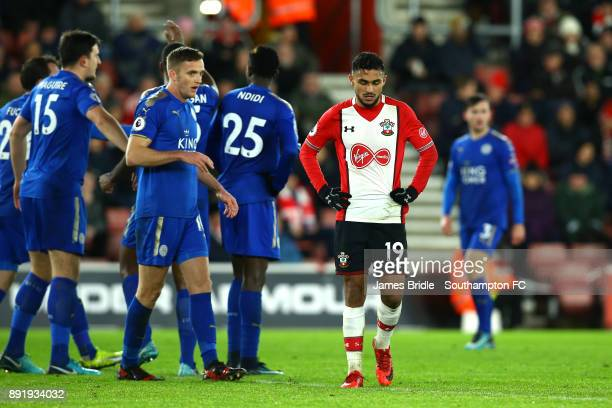 Sofiane Boufal of Southampton FC during the Premier League match between Southampton and Leicester City at St Mary's Stadium on December 13 2017 in...