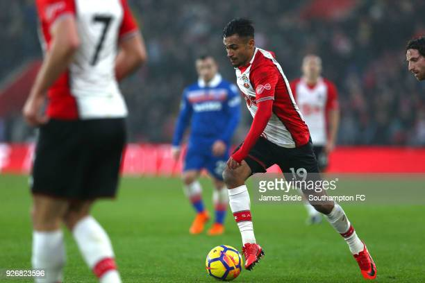 Sofiane Boufal of Southampton FC during the Premier League match between Southampton and Stoke City at St Mary's Stadium on March 3 2018 in...