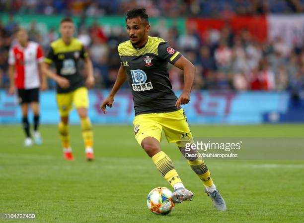 Sofiane Boufal of Southampton in action during the pre season friendly match between Feyenoord Rotterdam and Southampton Football Club at Stadion...