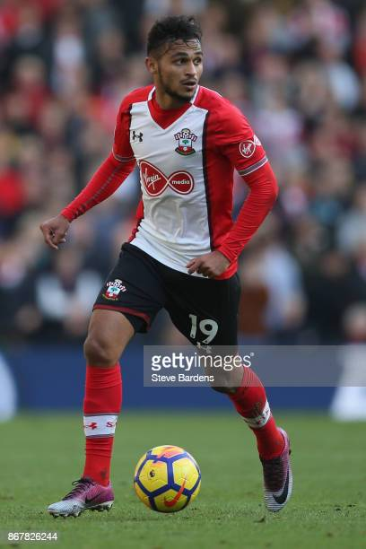 Sofiane Boufal of Southampton in action during the Premier League match between Brighton and Hove Albion and Southampton at Amex Stadium on October...