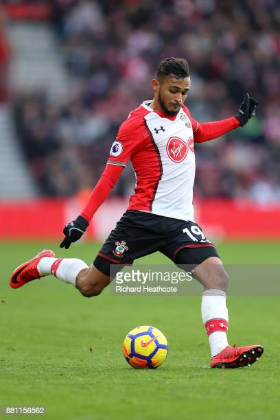 Sofiane Boufal of Southampton in action during the Premier League match between Southampton and Everton at St Mary's Stadium on November 26 2017 in...