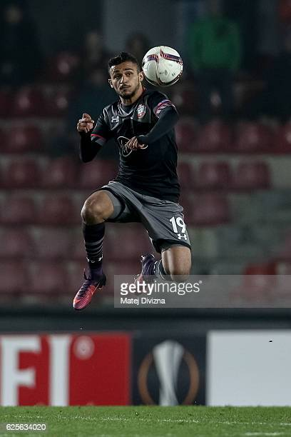 Sofiane Boufal of Southampton in action during the UEFA Europa League match between AC Sparta Praha and Southampton FC at Generali Arena Stadium on...