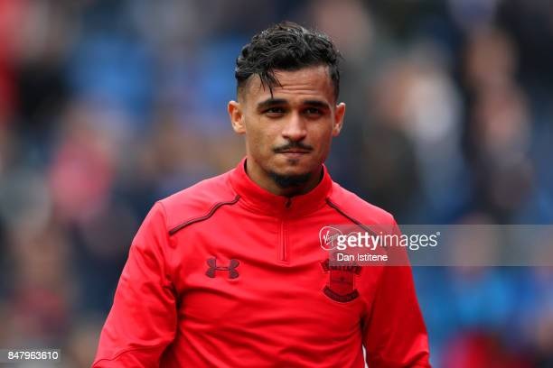 Sofiane Boufal of Southampton walks to the dugout for the start of the Premier League match between Crystal Palace and Southampton at Selhurst Park...