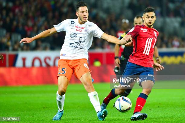 Sofiane BOUFAL / Rami BENSEBAINI Lille / Montpellier 9e journee de Ligue 1 Photo Dave Winter / Icon Sport