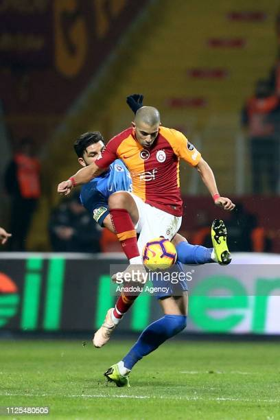 Sofiane Feghouli of Galatasaray in action during the Turkish Super Lig soccer match between Kasimpasa and Galatasaray at Recep Tayyip Erdogan Stadium...