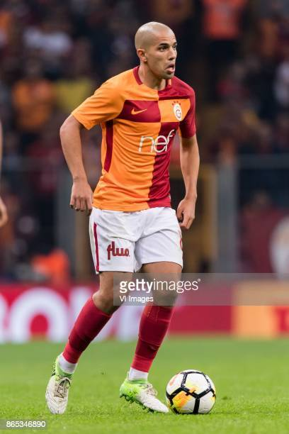 Sofiane Feghouli of Galatasaray SK during the Turkish Spor Toto Super Lig football match between Galatasaray SK and Fenerbahce AS on October 22 2017...