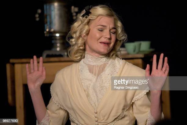 Sofie Cappelen performs as Yelena in Uncle Vanya at the Titan Teatergruppe on May 8 2010 in Oslo Norway