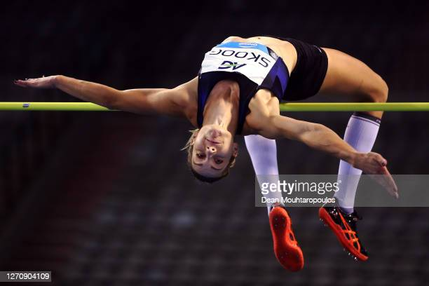 Sofie Skoog of Sweden competes in the Women's High jump during the Memorial Van Damme Brussels 2020 Diamond League meeting at King Baudouin Stadium...