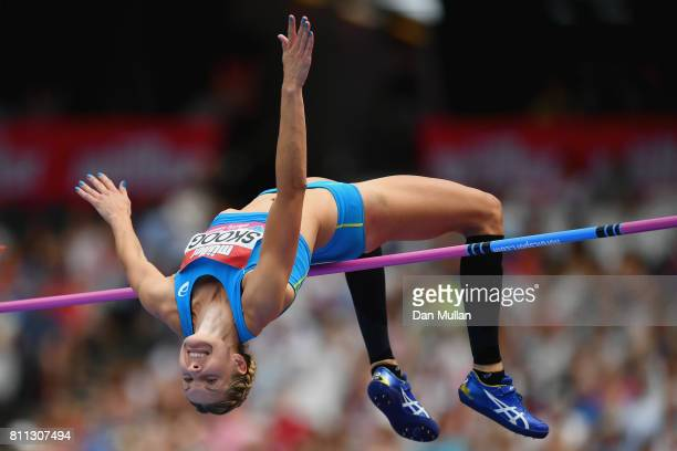 Sofie Skoog of Sweden competes in the Women's High Jump during the Muller Anniversary Games at London Stadium on July 9 2017 in London England