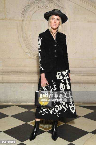 Sofie Valkiers attends the Christian Dior Haute Couture Spring Summer 2018 show as part of Paris Fashion Week on January 22 2018 in Paris France