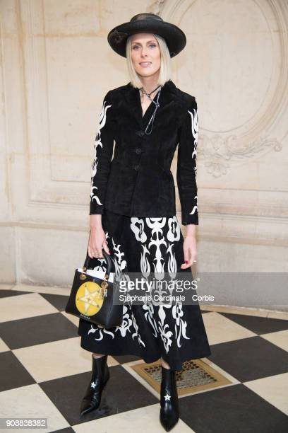 Sofie Valkiers attends the Christian Dior Haute Couture Spring Summer 2018 show as part of Paris Fashion Week January 22 2018 in Paris France