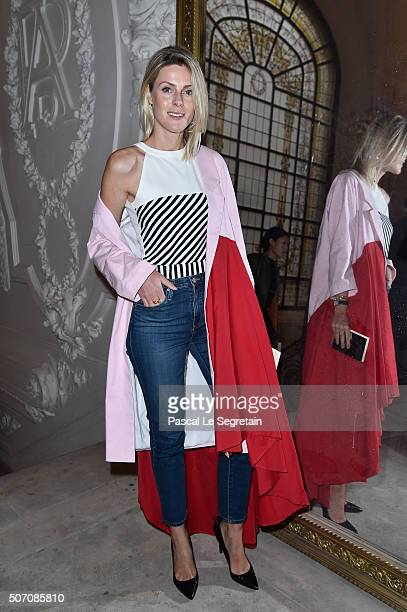 Sofie Valkiers attends the Jean Paul Gaultier Spring Summer 2016 show as part of Paris Fashion Week on January 27 2016 in Paris France
