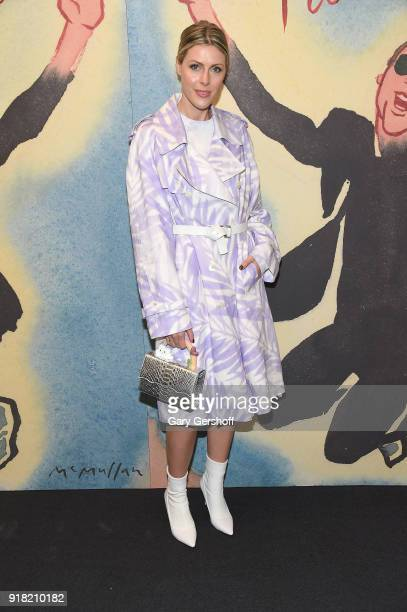 Sofie Valkiers attends the Michael Kors fashion show during New York Fashion Week at Vivian Beaumont Theatre on February 14 2018 in New York City