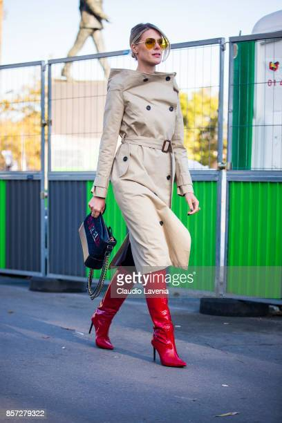 Sofie Valkiers is seen before the Chanel show during Paris Fashion Week Womenswear SS18 on October 3 2017 in Paris France