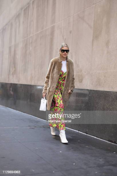Sofie Valkiers is seen on the street during New York Fashion Week AW19 wearing Michael Kors on February 13 2019 in New York City
