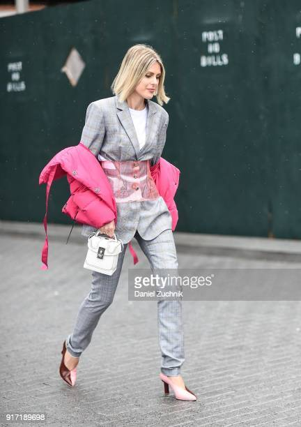 Sofie Valkiers is seen outside the Tibi show during New York Fashion Week Women's A/W 2018 on February 11 2018 in New York City