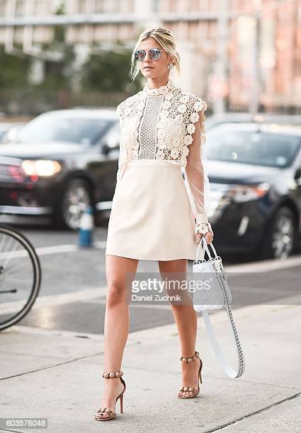 Sofie Valkiers is seen outside the Zac Posen show during New York Fashion Week Spring 2017 on September 12 2016 in New York City