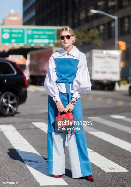 Sofie Valkiers seen in the streets of Manhattan outside Michael Kors during New York Fashion Week on September 13 2017 in New York City