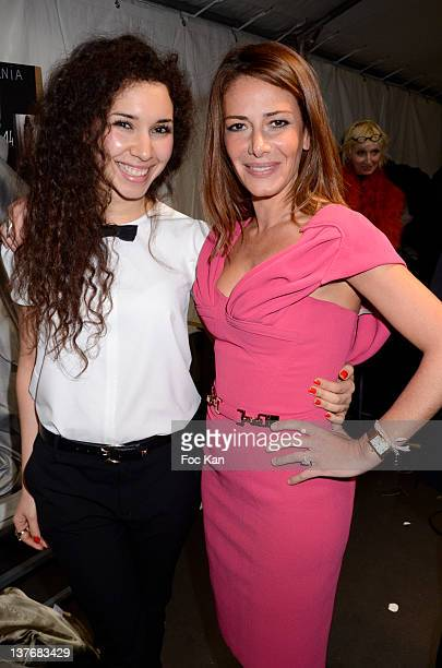 Sofiia Manousha and Elsa Fayer attend the Didit Hediprasetyo Front Row Paris Fashion Week Haute Couture S/S 2012 at the Hotel Crillonon January 24...