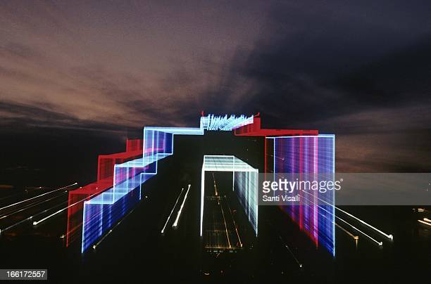Sofitel Hotel at night on January 30 1993 in Miami Florida Photo by Santi Visalli/Getty Images}