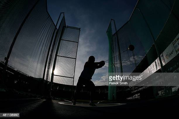 Sofiya Palkina of Russia in action during qualification for the Girls Hammer Throw on day three of the IAAF World Youth Championships, Cali 2015 on...