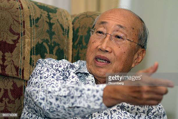 Sofjan Wanandi chairman of the Indonesia National Business Development Council speaks during an interview in Jakarta Indonesia on Thursday Nov 26...