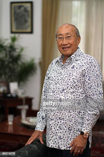 Sofjan Wanandi chairman of the Indonesia National Business Development Council poses for a photograph during an interview in Jakarta Indonesia on...