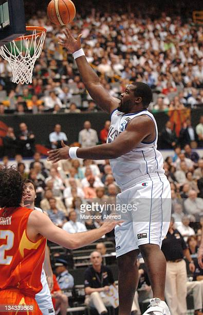 Sofoklis Schortsanitis of Greece during the FIBA World Championship 2006 Final between Spain and Greece at the Saitama Super Arena, Tokyo, Japan,...