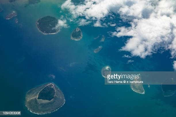 Sofronio Española in Province of Palawan in Philippines daytime aerial view from airplane daytime aerial view from airplane
