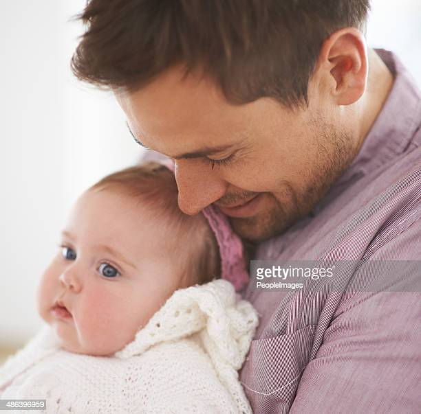 Soft and tender moment with his daughter