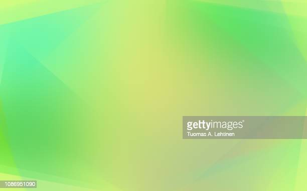 soft and vibrant yellow and green abstract background with light transparent layers. - multi colored background stock pictures, royalty-free photos & images