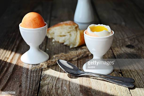 Soft boiled eggs breakfast